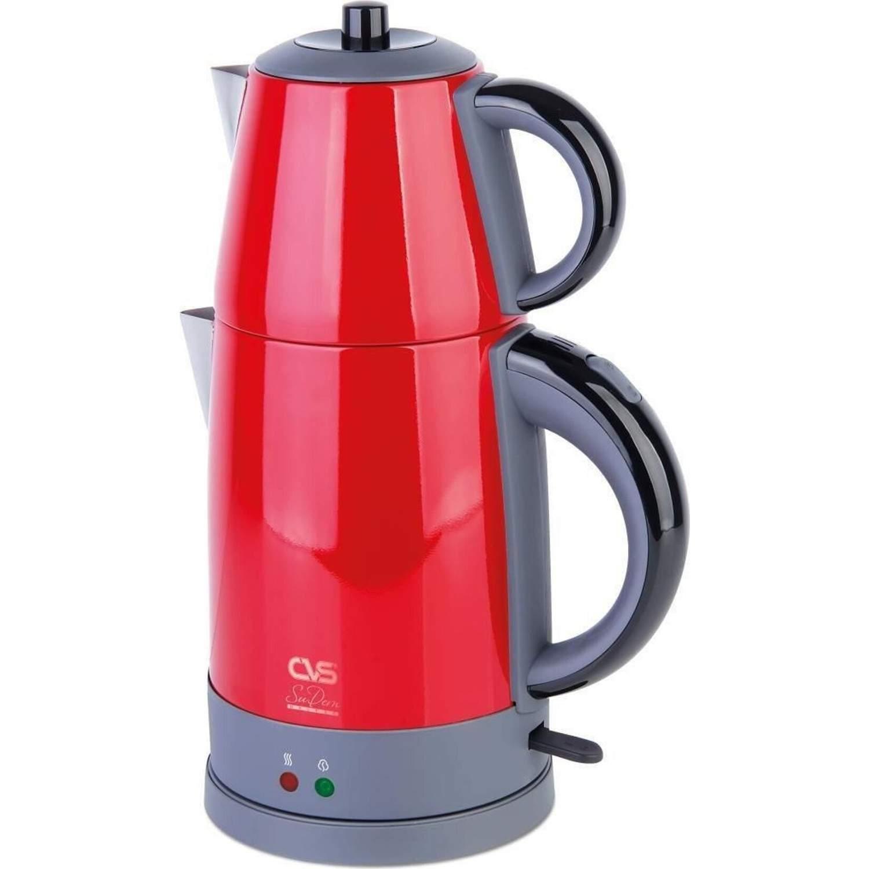 CVS DN-1515 Sudem Deluxe Kırmızı 1800 W Çelik Çay Makinesi